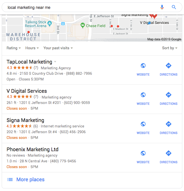 Business listing Search
